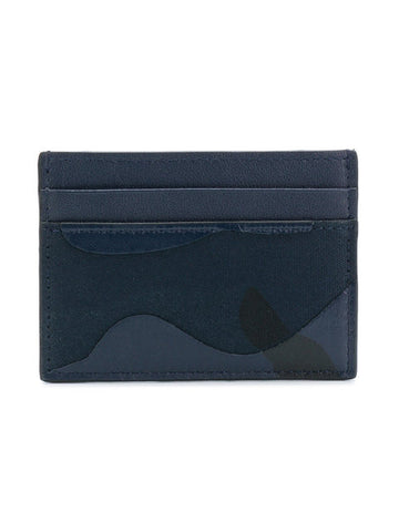 Valentino Camo Card Holder Wallet Blue