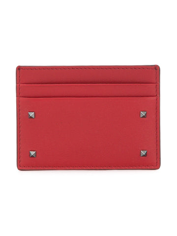Valentino Leather Card Holder Red
