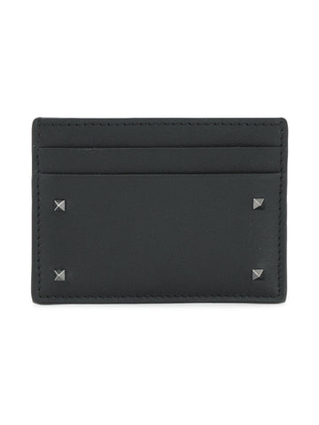 Valentino Leather Card Holder Black