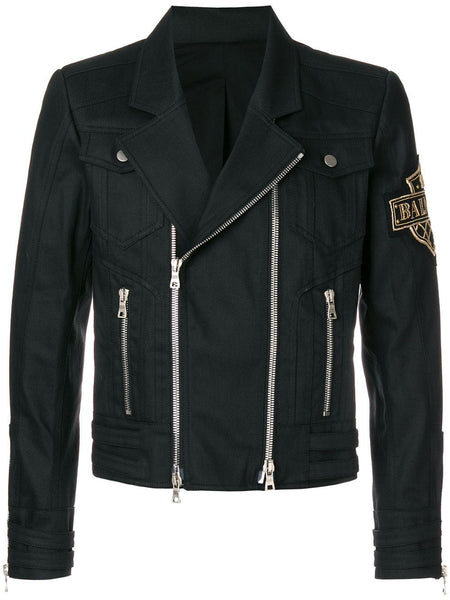 Logo Patch Biker Jacket