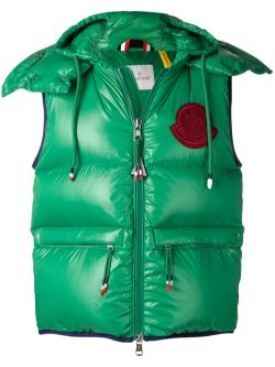 Moncler Genius Lorent Logo Padded Vest Green