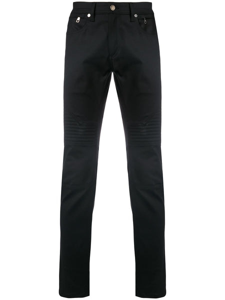 Ribbed Detail Slim Fit Trousers