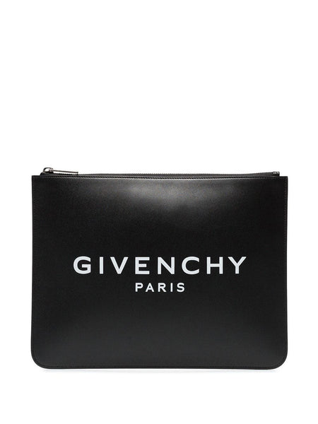 Logo-Printed Clutch
