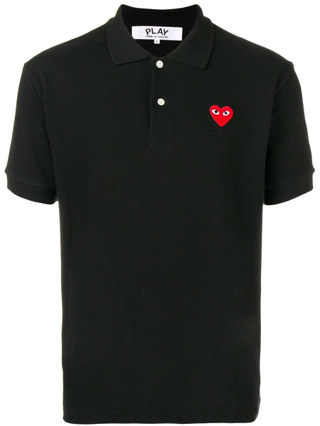 Heart-Patch Polo Shirt