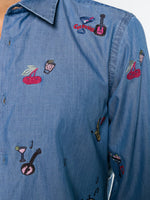 Embroidered Travel Details Shirt
