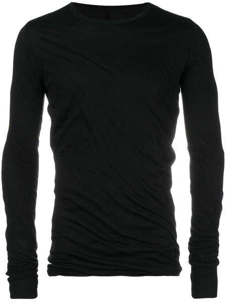 Crinkled Long-Sleeve T-Shirt