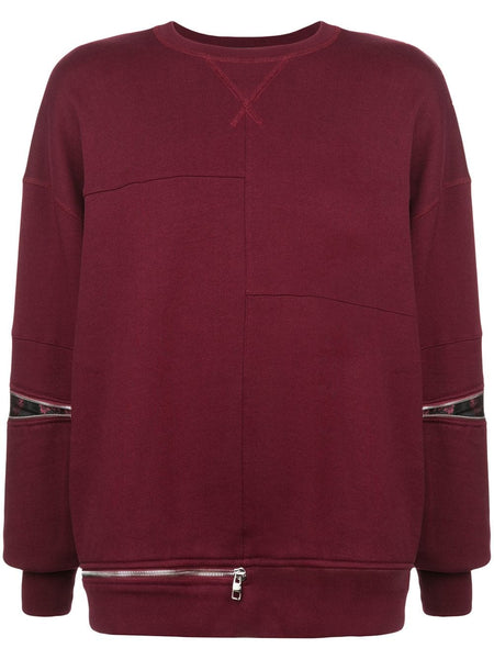 Boxy Zip Detail Sweatshirt