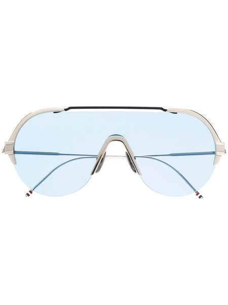 Silver & Navy Sunglasses