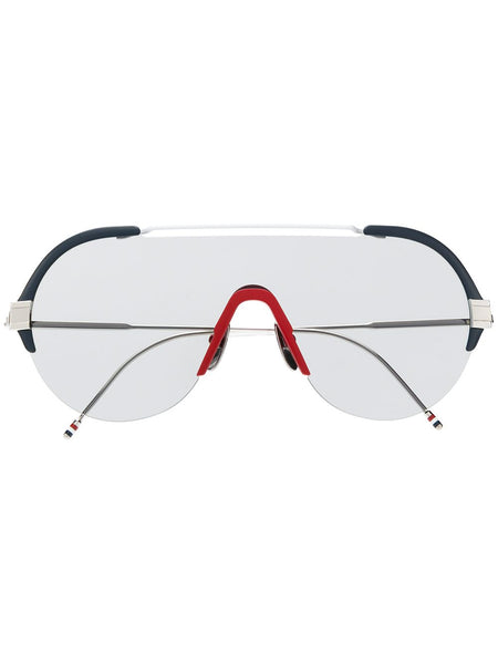 Mask-Frame Sunglasses