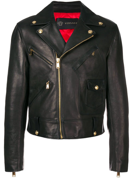 Calf Leather Biker Jacket