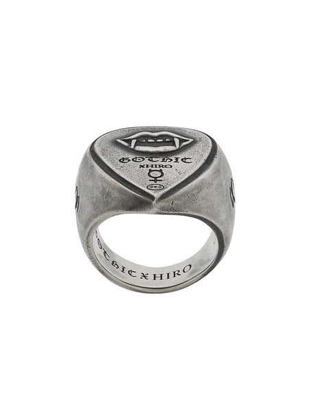 Vampire Engraved Ring