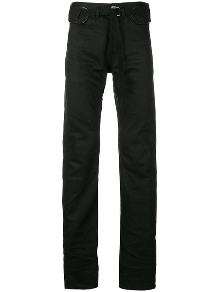 Belted Slim Fit Jeans