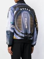 Graphic Print Bomber Jacket