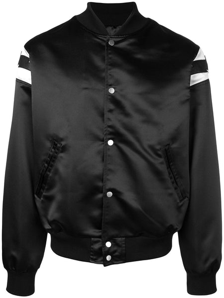 Logo Patch Bomber Jacket