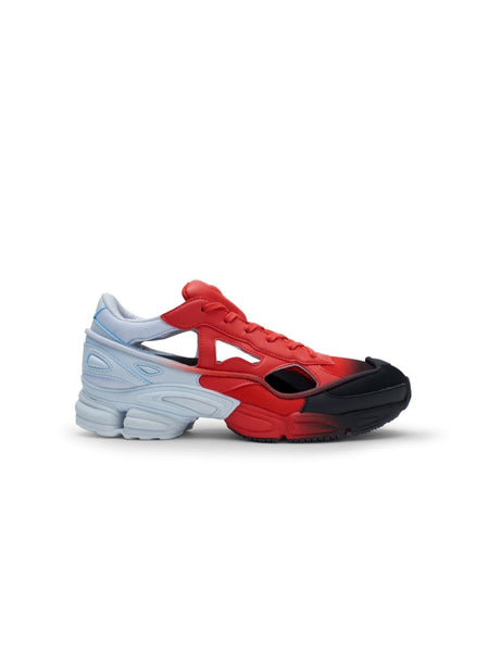 Raf Simons Red And Black Ozweego Cut Out Sneakers