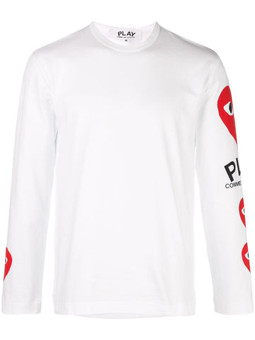 Comme des Garcons Play Long Sleeve Logo T-Shirt