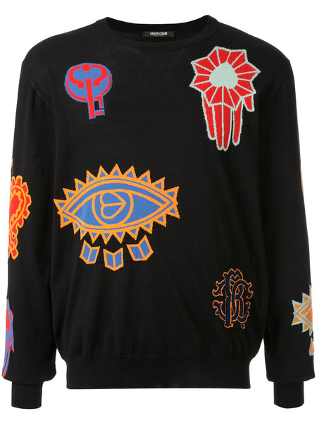 Multicoloured Patch Sweatshirt