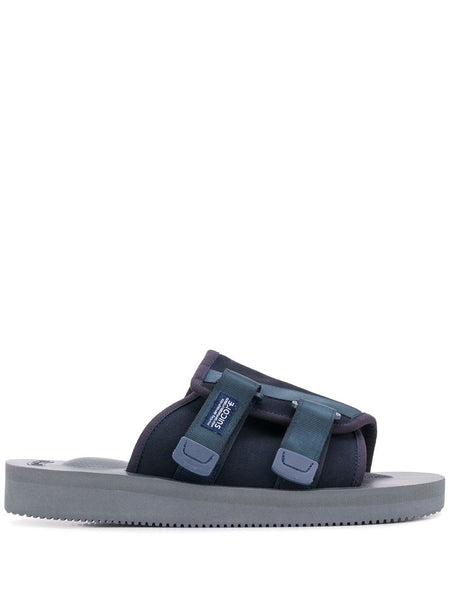 Blue Double Strap Slides