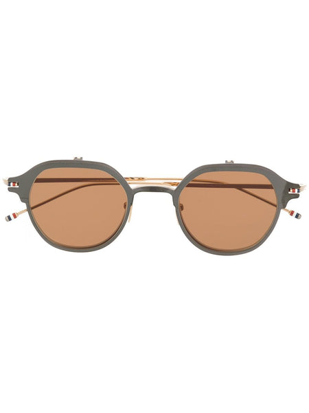 Brown Round Frame Sunglasses