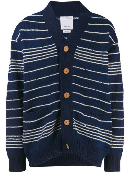 Striped Long-Sleeve Cardigan