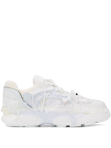 Maison Margiela Leather Low Sneaker White