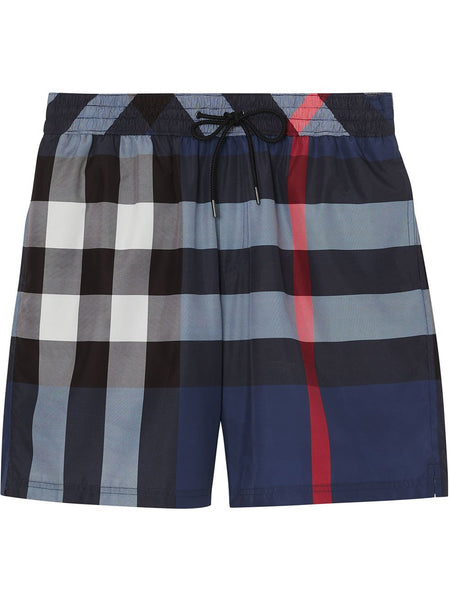 Check Drawcord Swim Shorts