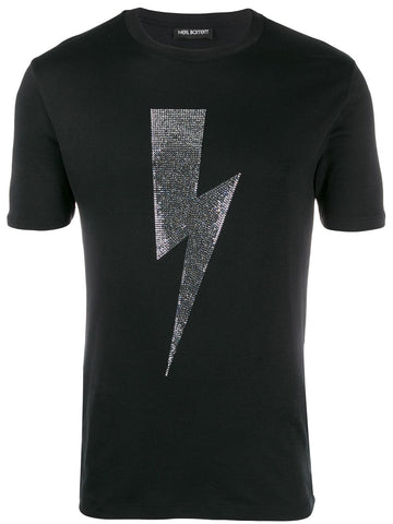 Neil Barrett Thunder Bolt Crystal T-shirt