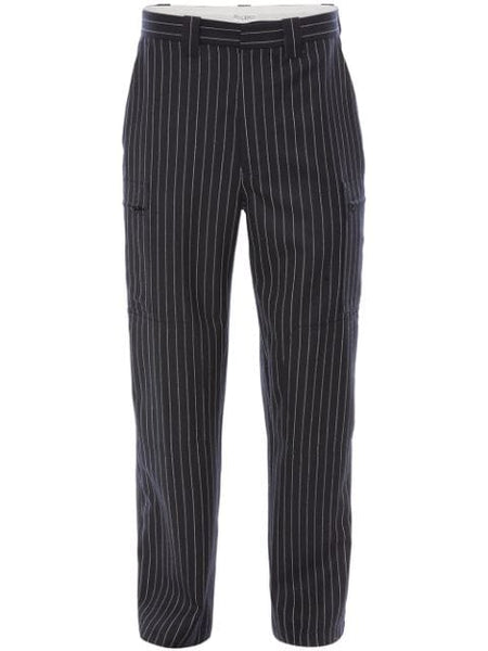 Pinstripe Straight Trousers