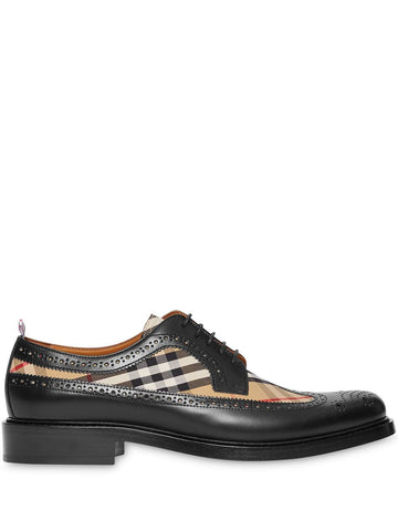 Burberry London Check Brogue Leather Shoes