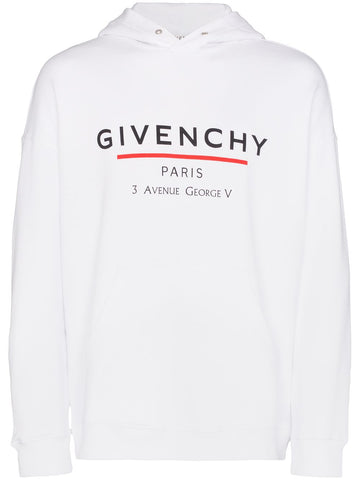 Givenchy Logo White Hoodie