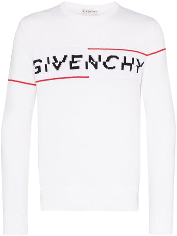 Givenchy Intarsia Knitted Logo Sweater