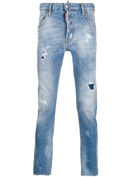 Patch Detailed Stonewashed Jeans