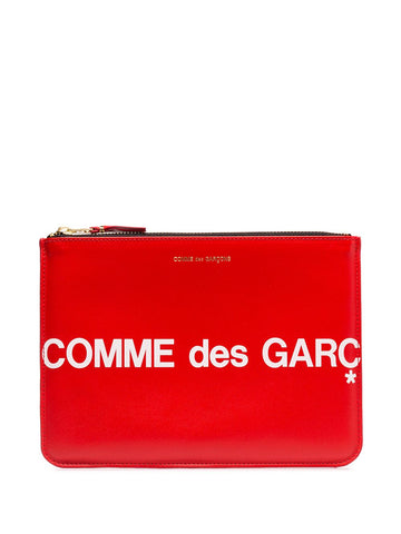 Comme des Garçons Wallet Red Logo Document Holder