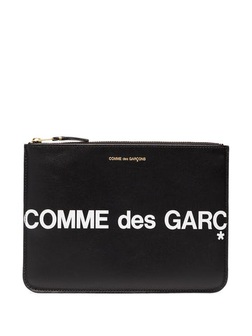 Comme des Garçons Wallet Black Logo Document Holder