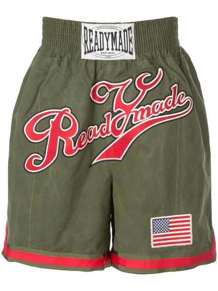 Khaki Green Boxing Shorts