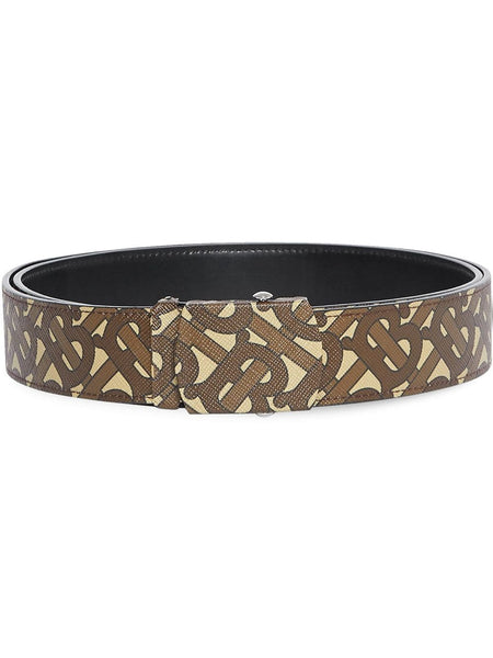 Monogram Print E-Canvas Belt