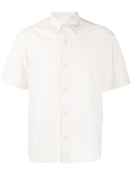 Embroidered Short-Sleeve Shirt