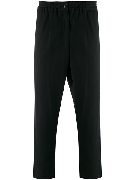 Elasticated Waist Cropped Trousers