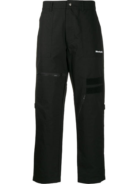Multi-Pocket Straight Trousers