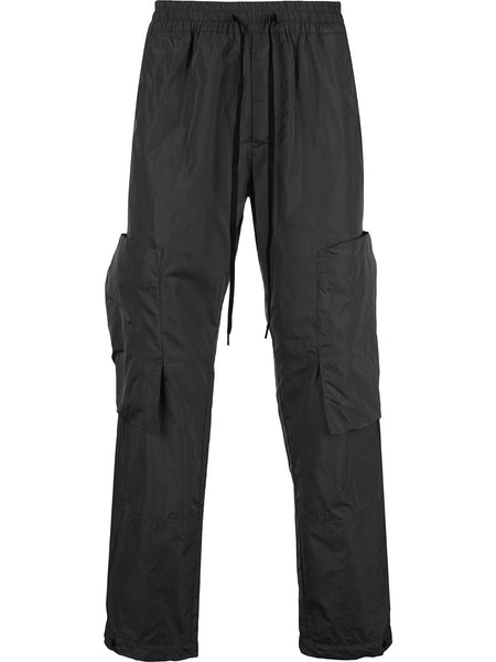 Drawstring Straight-Leg Trousers