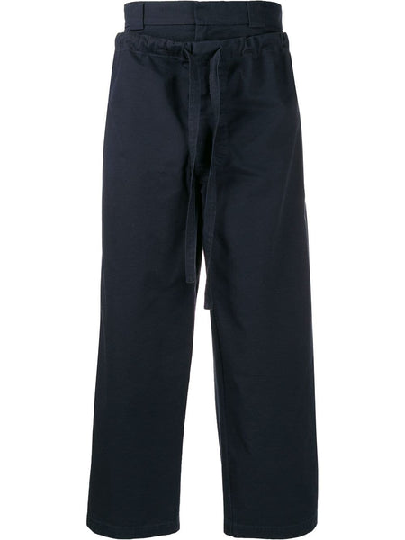Layered Drawstring Wide-Legged Trousers