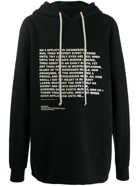Quote Print Hoodie