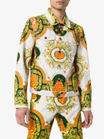 Les Oranges Print Denim Jacket