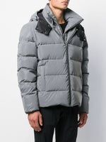 Press Stud Hood Puffer Jacket