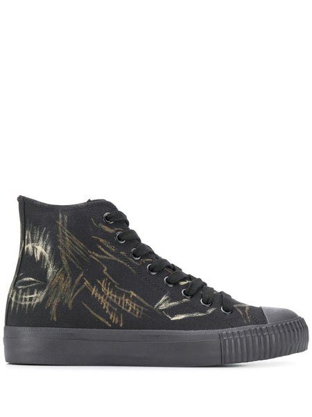 Graphic Print High-Top Sneakers