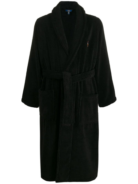Embroidered Logo Robe