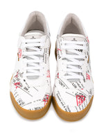 Low Top Printed Slogan Sneakers