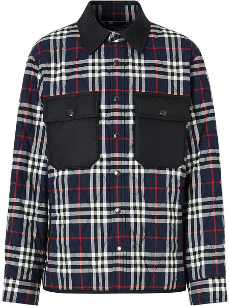 Quilted Checked Shirt Jacket