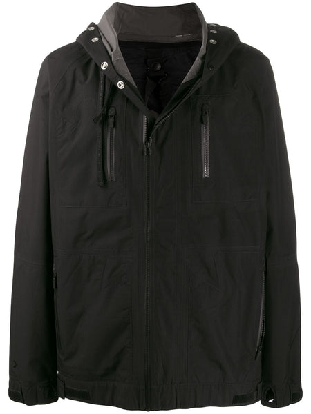 Rear-Zip Hooded Jacket