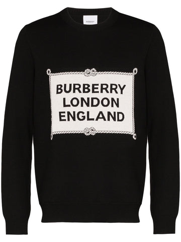 Burberry Logo Intarsia Knit Sweater